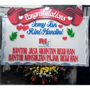 Bunga Papan Pernikahan Florist Di Surabaya