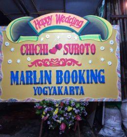 bunga papan pernikahan 1