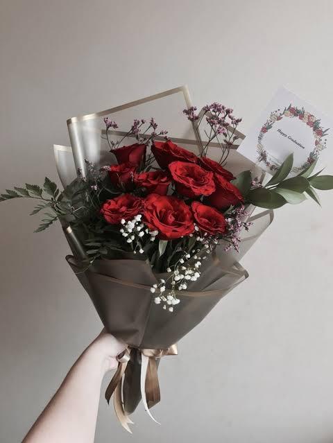 contoh hand bouquet surabaya