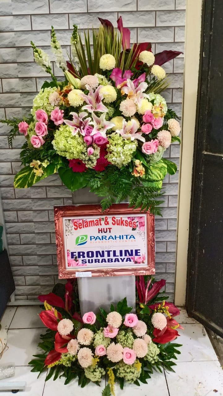 standing flower selamat dan sukses surabaya