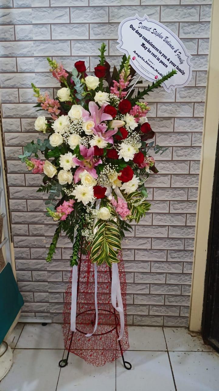 standing flower surabaya murah