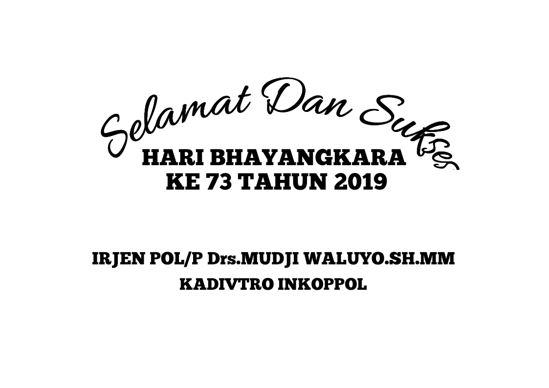 Contoh format penulisan karangan bunga HUT Bhayangkara Surabaya